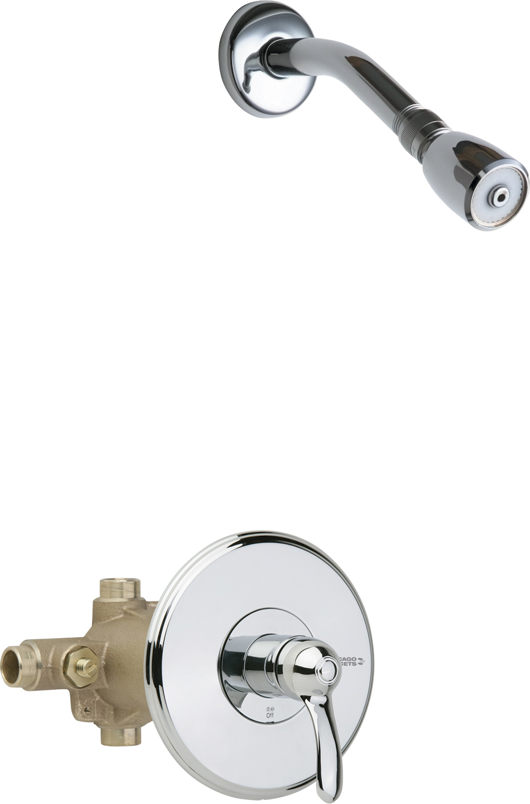 Thermostatic/pressure balancing tub and shower fitting
