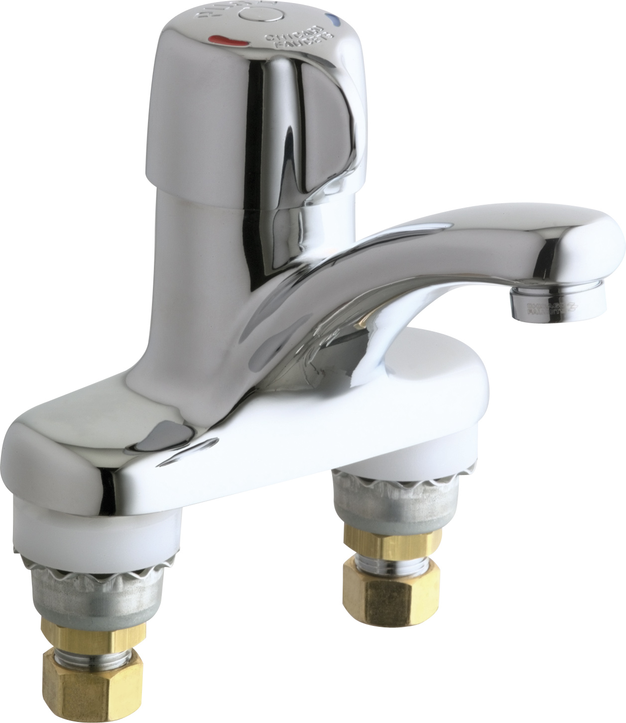 Deck Mounted Metering Sink Faucet With 4 Quot Centers