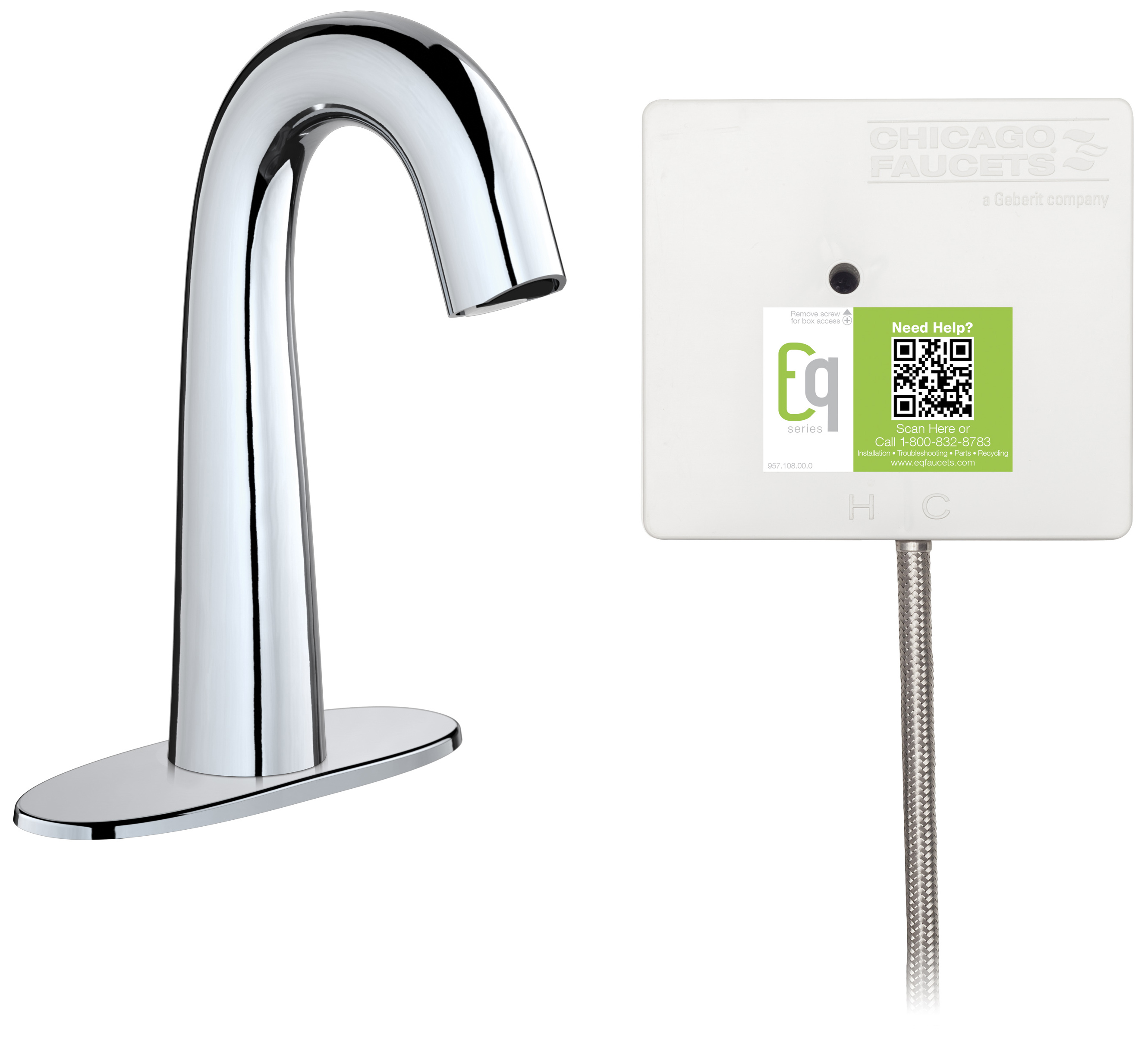 Delta Faucet R2910 Mixlf Commercial Mechanical Mixing: Touch-free Faucet With Plug-and-play Installation