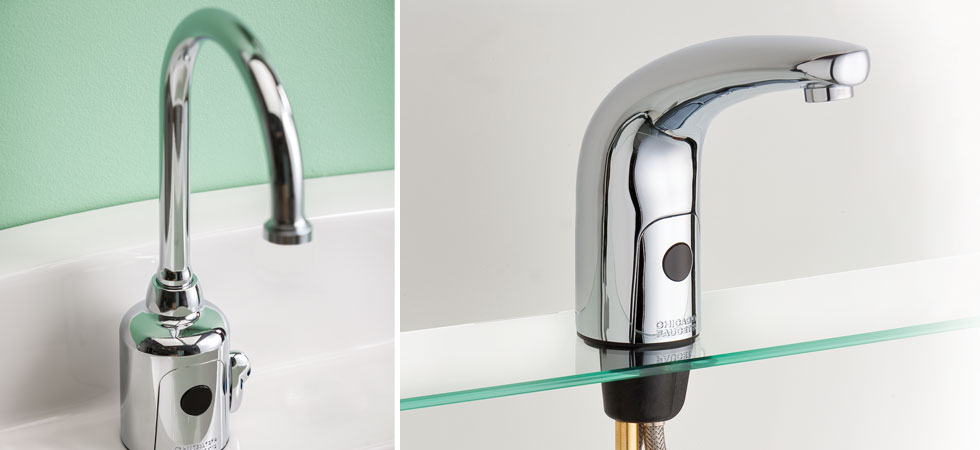 Closeups of Patient HyTronic faucets