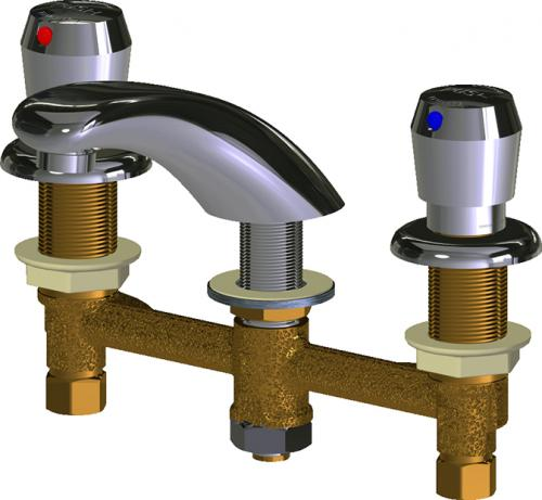 Deck Mounted Metering Sink Faucet With 8 Quot Centers