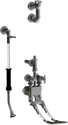 Bed Pan Cleaner With Remote Pedal Valve Chicago Faucets